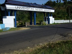 Salah satu sudut Universitas Negeri Manado. (Foto: stad.com)