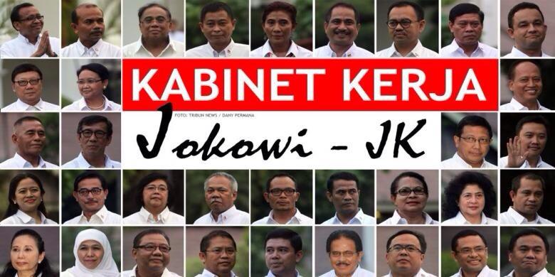 Pengumuman nama-nama ke-34 Menteri Kabinet Kerja Jokowi-JK | Yubelium